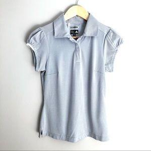 Adidas Dri-fit Golf Short Sleeve Shirt Gray